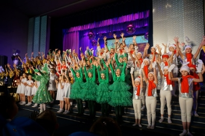 Воспитанники посетили новогоднее представление во Дворце творчества